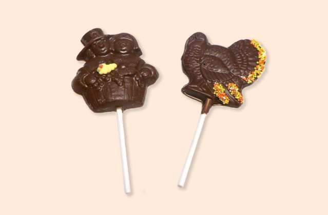Chocolate Thanksgiving Pops: click to enlarge