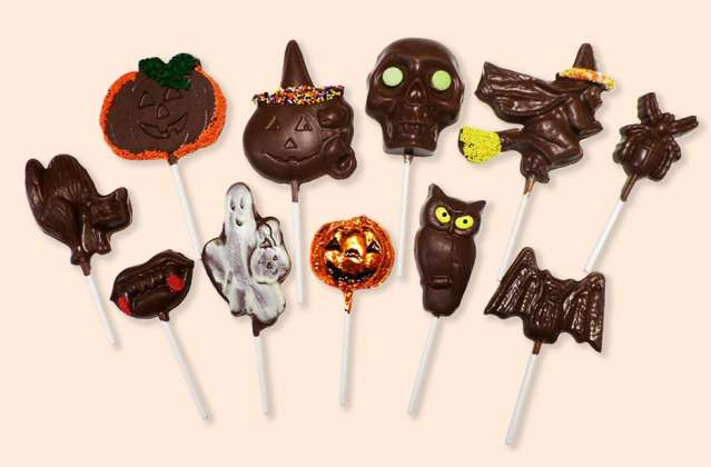 Chocolate Halloween Pops: click to enlarge