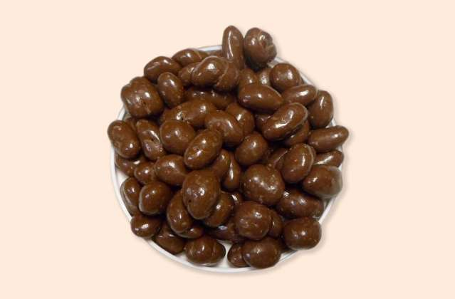 Sugar Free Milk Chocolate Raisinettes: click to enlarge