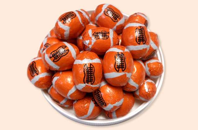 Foil Wrapped Footballs: click to enlarge