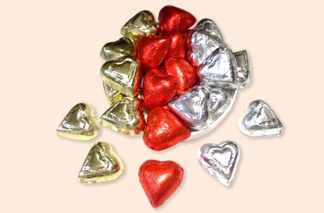 Foil Wrapped Hearts: click to enlarge