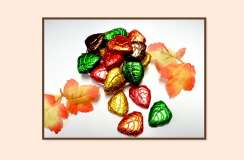 Milk Chocolate Foil Wrapped Fall Leaves